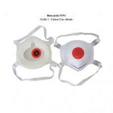 Mascarilla con válvula FFP3 desechable